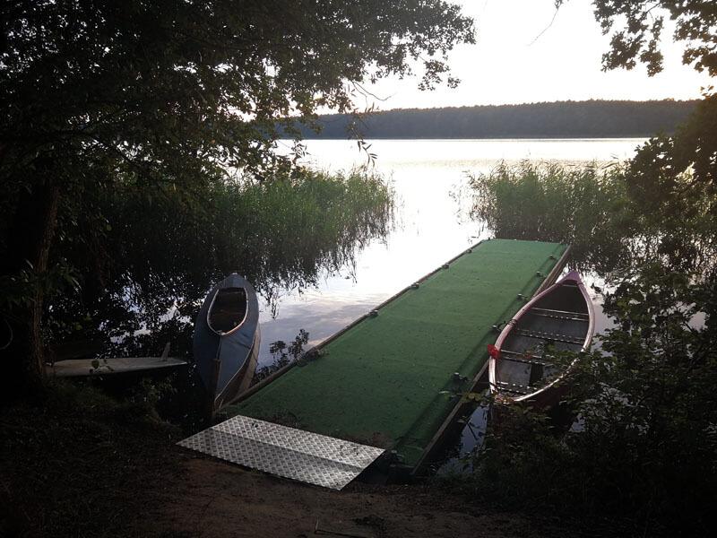 Dieser Bootssteg für extra für unsere Wasserwanderer angelegt