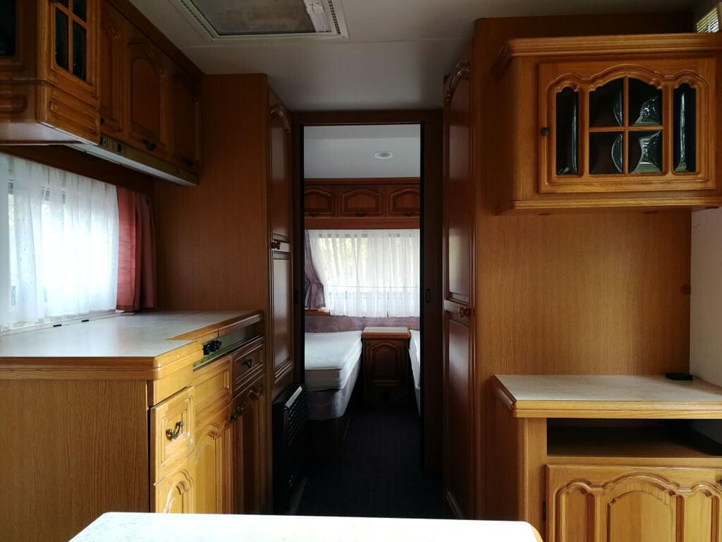 Küche vom Hpbby Prestige Wohnwagen