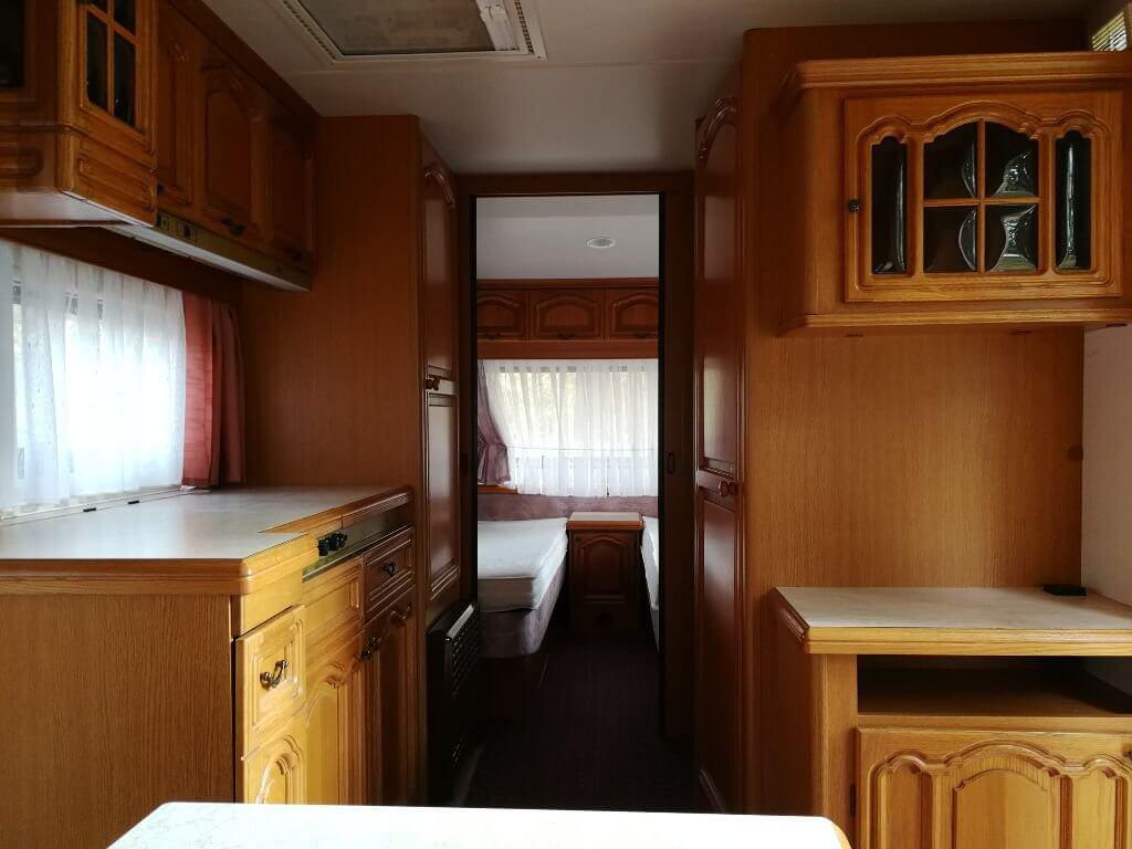 Küchenbereich Wohnwagen