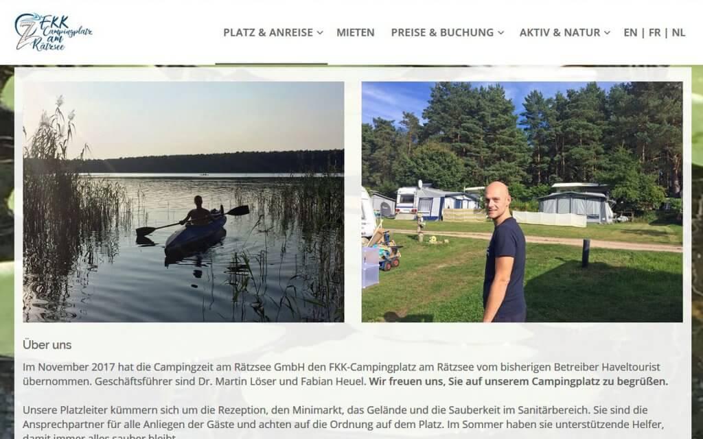 Unser Campingloatz FKK am Rätzsee