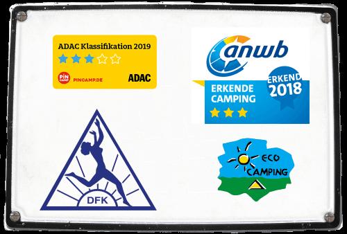 Wir wurden von ADAC und erkende camping mit 3 Sternen 2019 bewertet