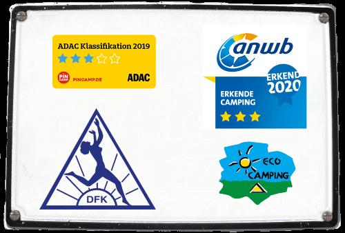 Wir wurden von ADAC und erkende camping mit 3 Sternen 2020 bewertet